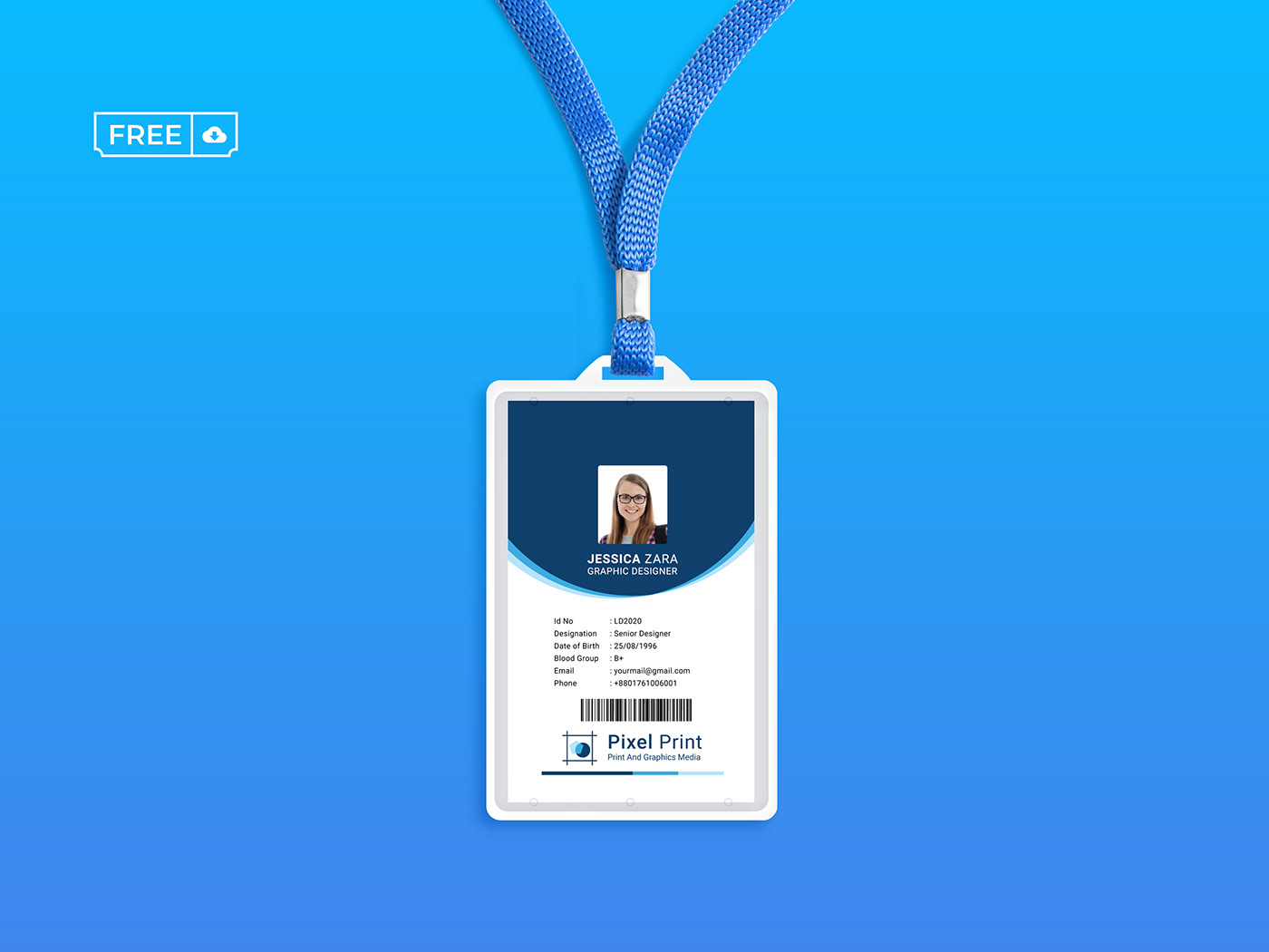 ID Card Template Free Download on Behance Regarding Template For Id Card Free Download