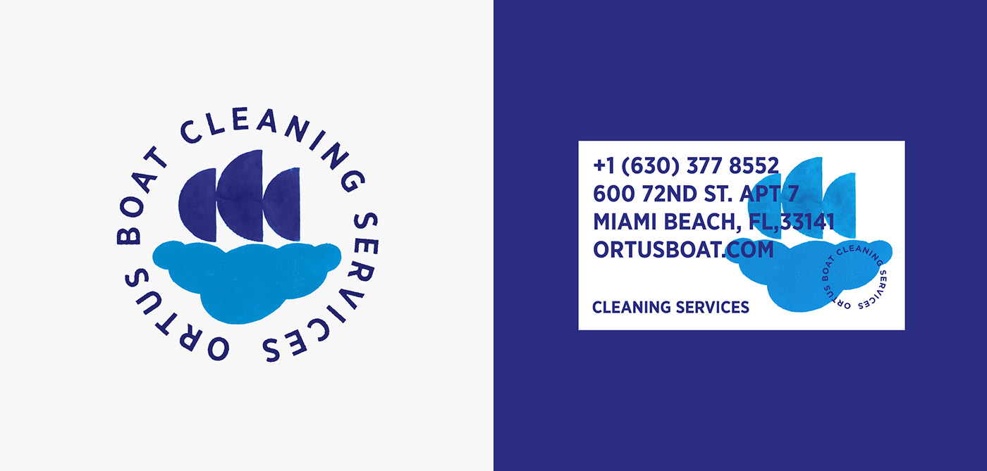 Boats branding  brandmark cleaning services contemporary identity ILLUSTRATION  miami modernism ophiuchusdesign