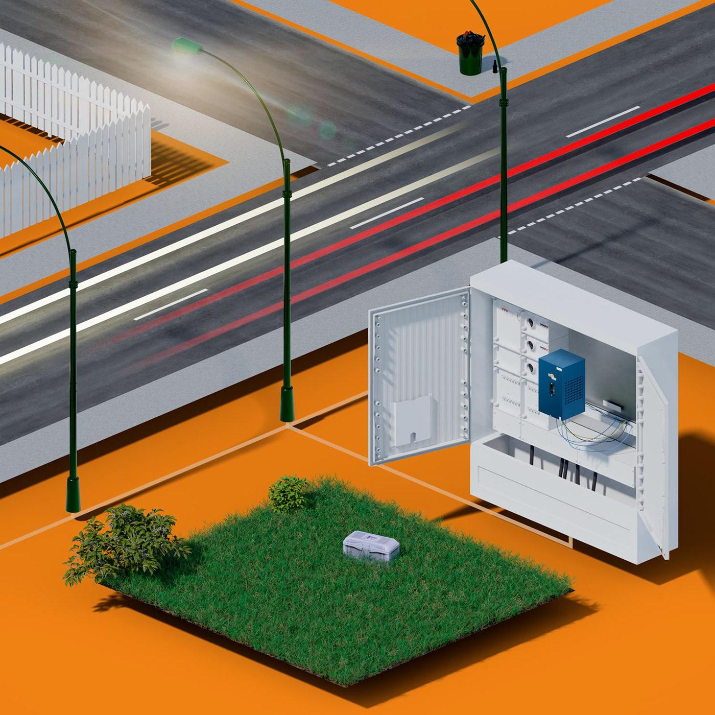 dimmen licht 3D motion Film   light animation  Energy saving