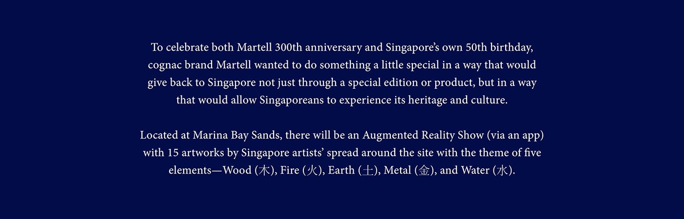 martell Cognac newater fusion #memories SG50 lee kwan yew jean martell campaign art augmented reality singapore history time fluidity