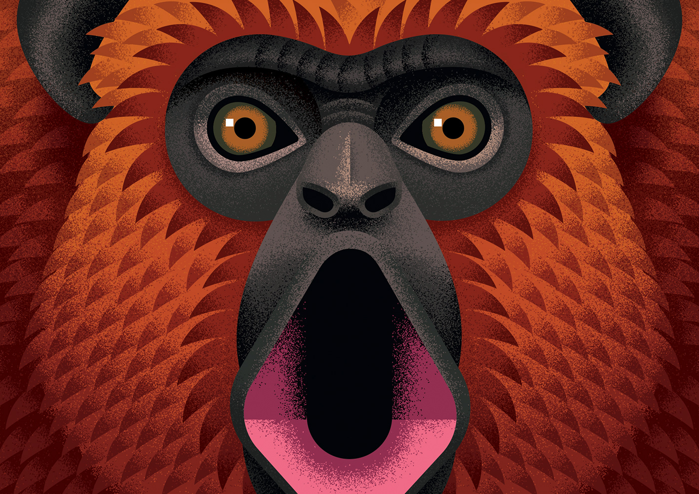 airbrush anano animals book cover editorial ILLUSTRATION  miminoshvili monkey portrait
