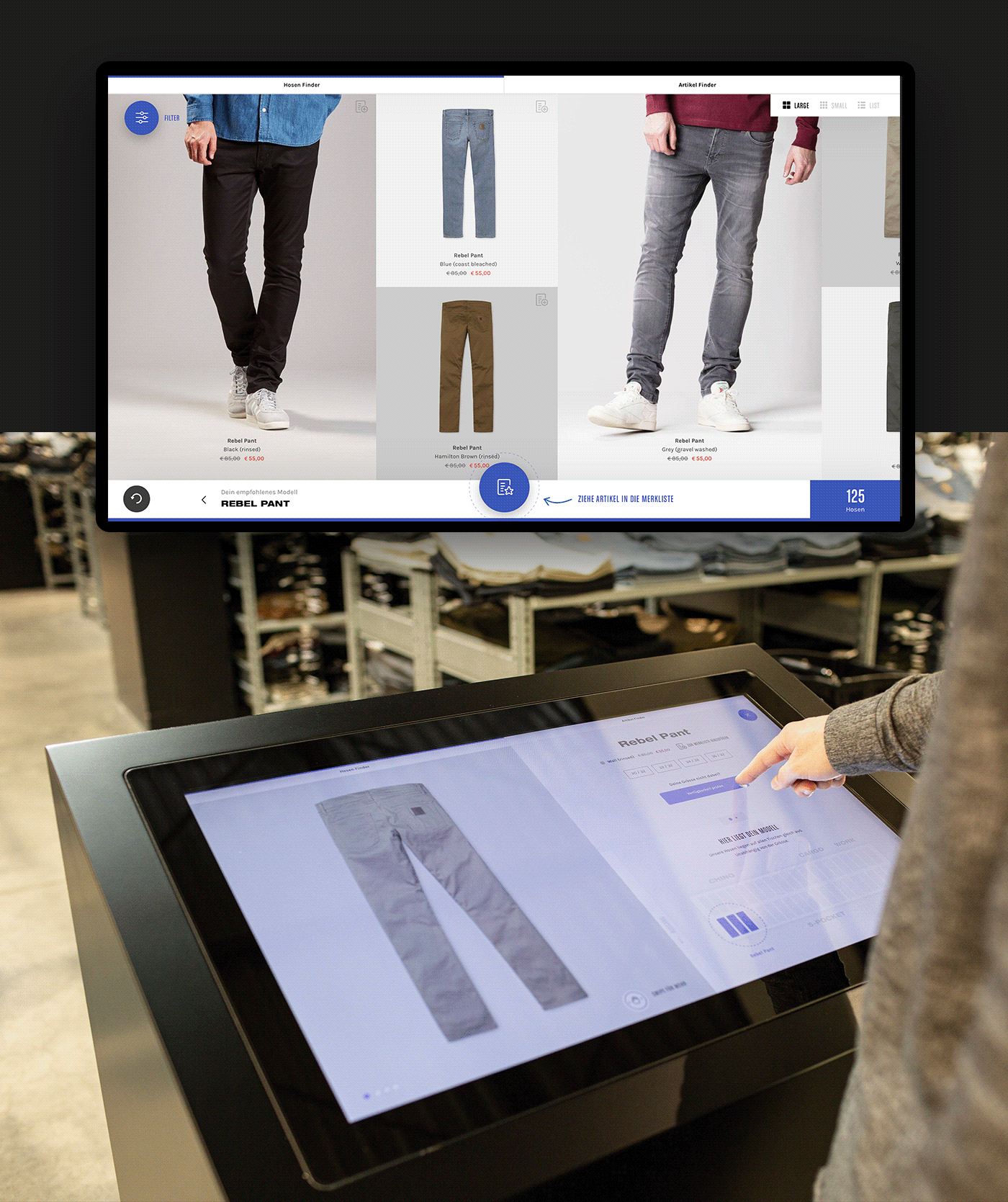 Interaction design  interactive concept future digital experience motion ux/ui prototype shopping experience carhartt wip