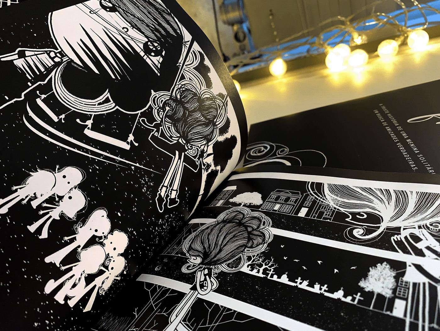 Comic Book História em Quadrinhos horror horror history hq ILLUSTRATION  inktober quadrinhos Terror