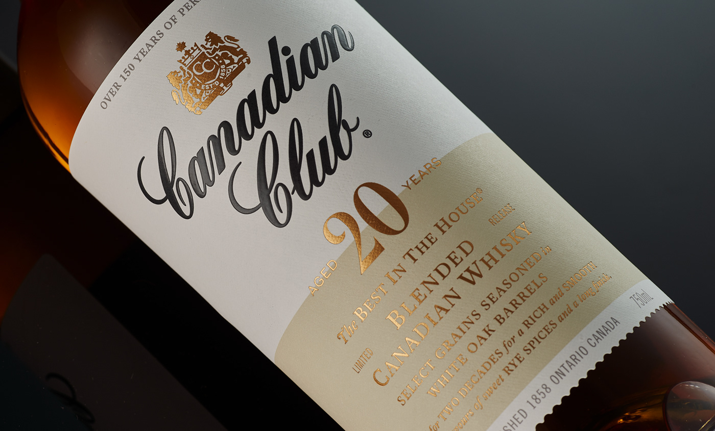 Canadian Club Whisky Whisky Design Whisky bottle whisky packaging luxury packaging Packaging luxury luxury Drinks