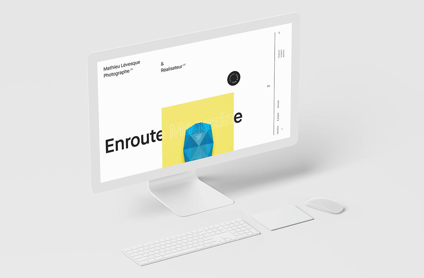 photographer director portfolio Photography  Montreal interactive black & white typography   gyroscope Responsive