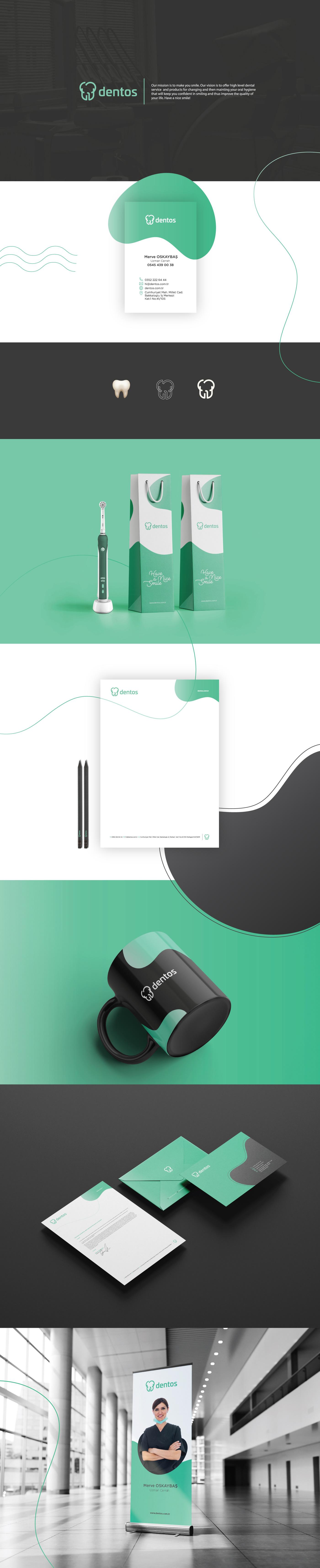 brand brandıng dental dentos desıgn   logo uı ux Web websıte