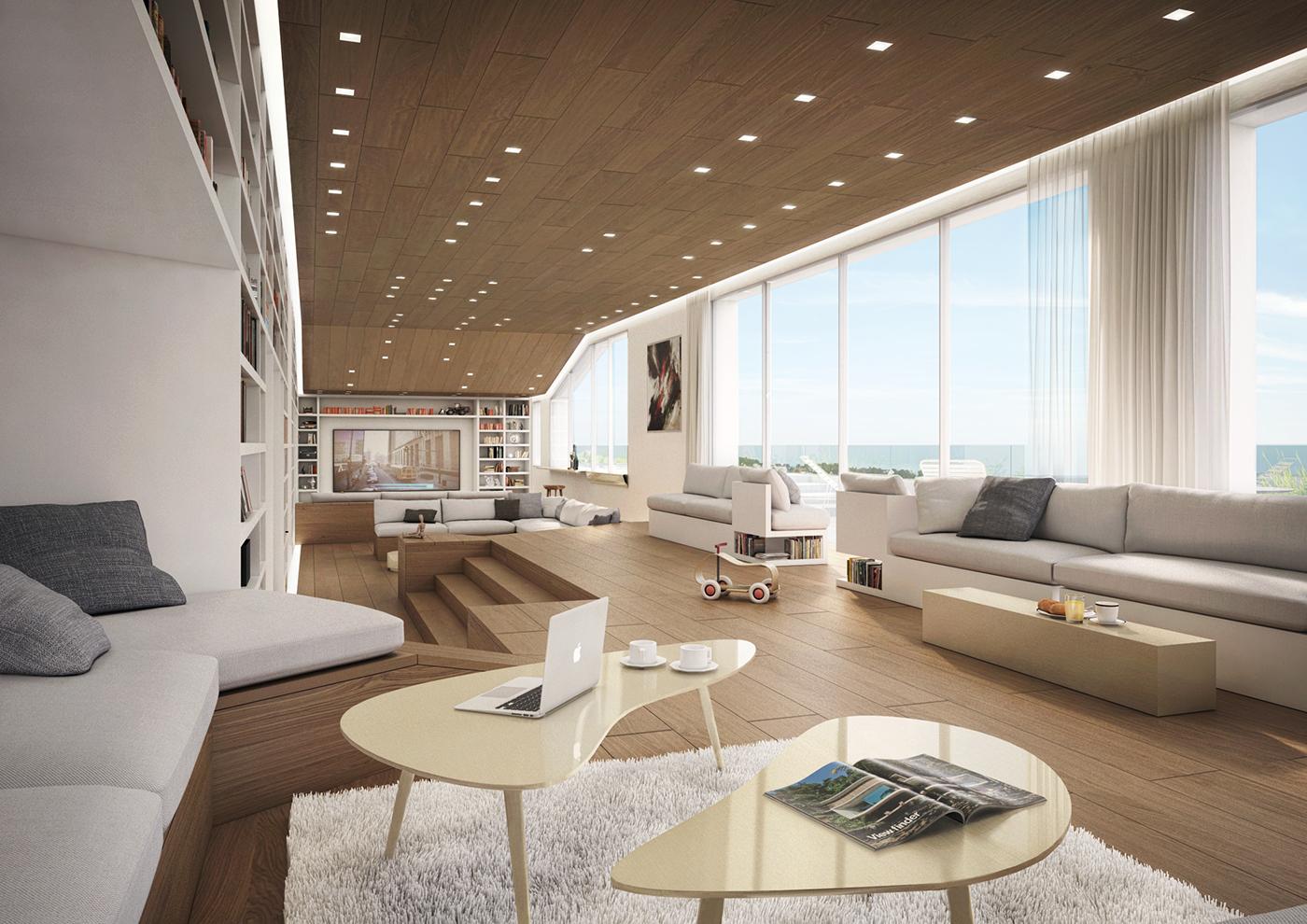 Beirut Penthouse On Behance