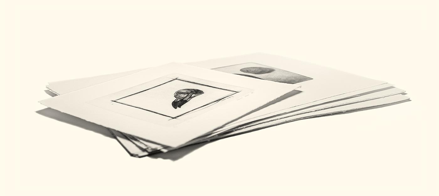 Adobe Portfolio DryPoint printmaking etching Realism vanitas