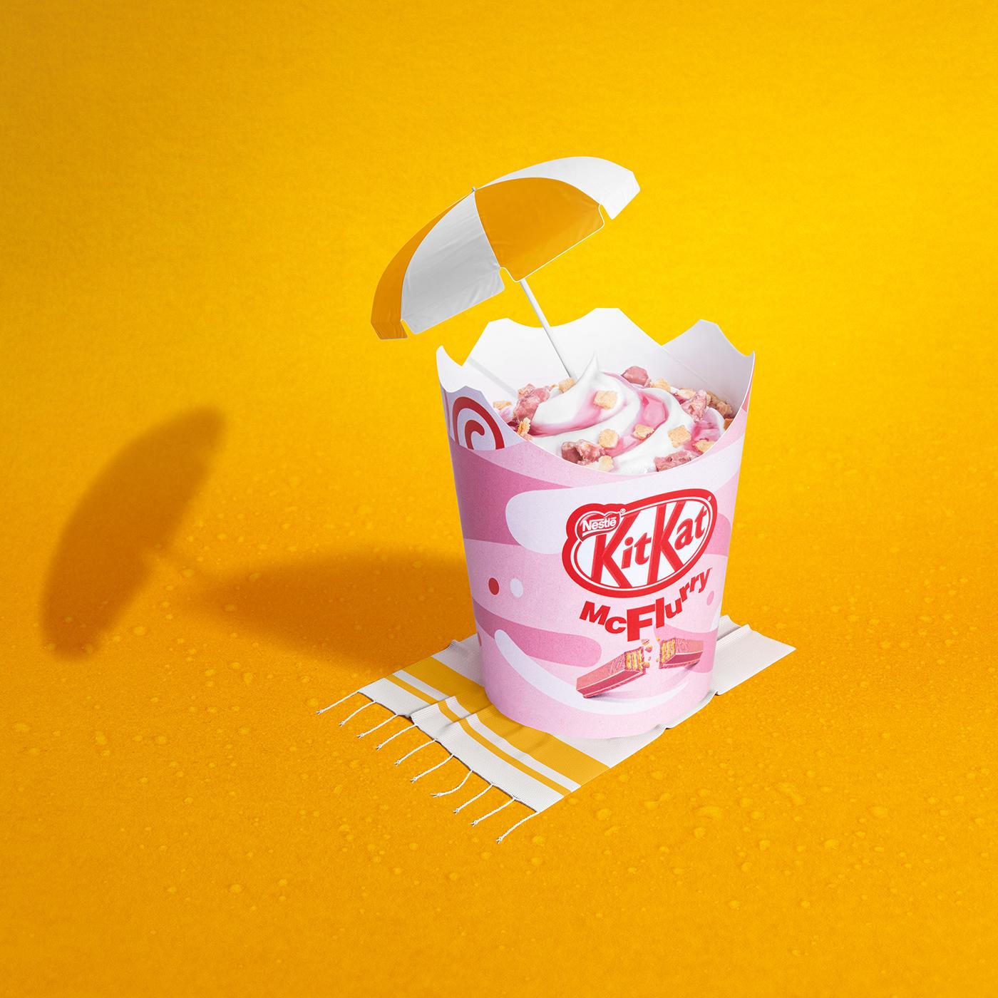 Food  food photography jakub dohnalek Leica McDonalds McFlurry pink profoto summer