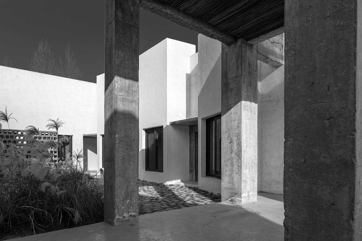 architectural photography architecture b&w hotel Photography  studio TEN Tan xiao Tongchen Hotel White Deer Plain xi'an