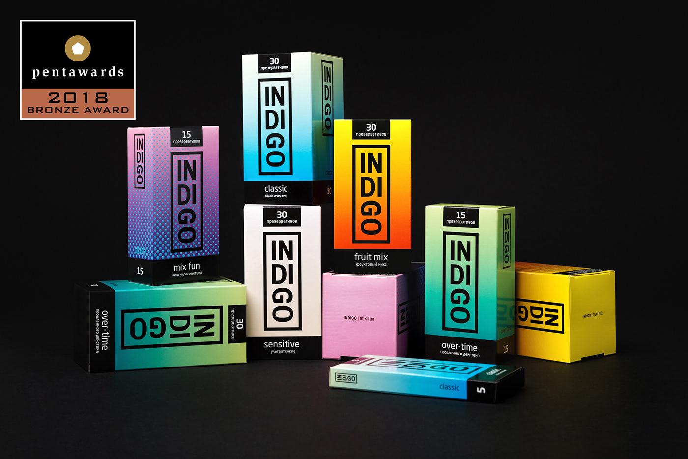 package gradient condoms packaging design Indigo typography   colors logo pentawards pentawards 2018