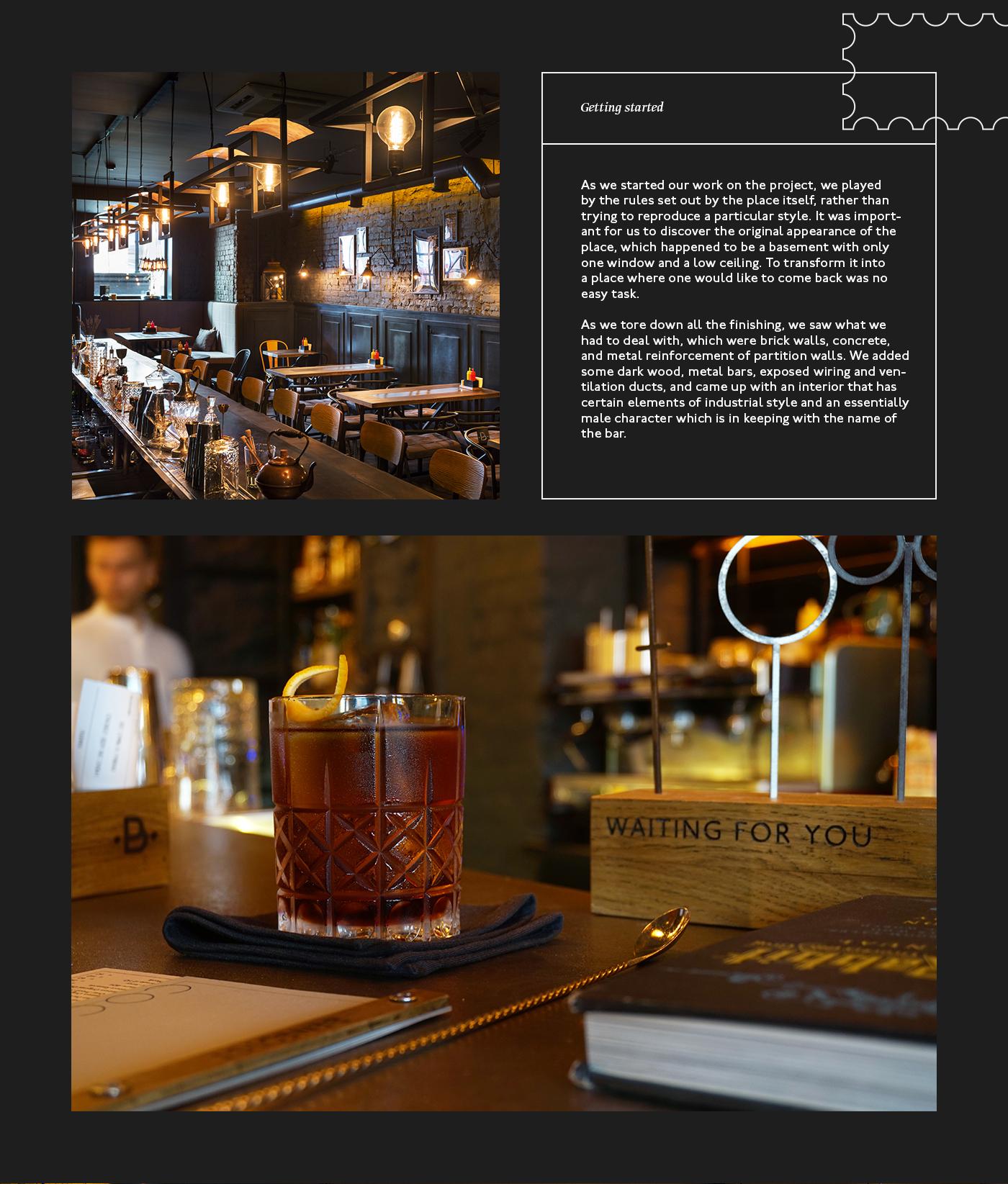 TheGoort Interior design commercial design bar cocktail benedict branding  identity