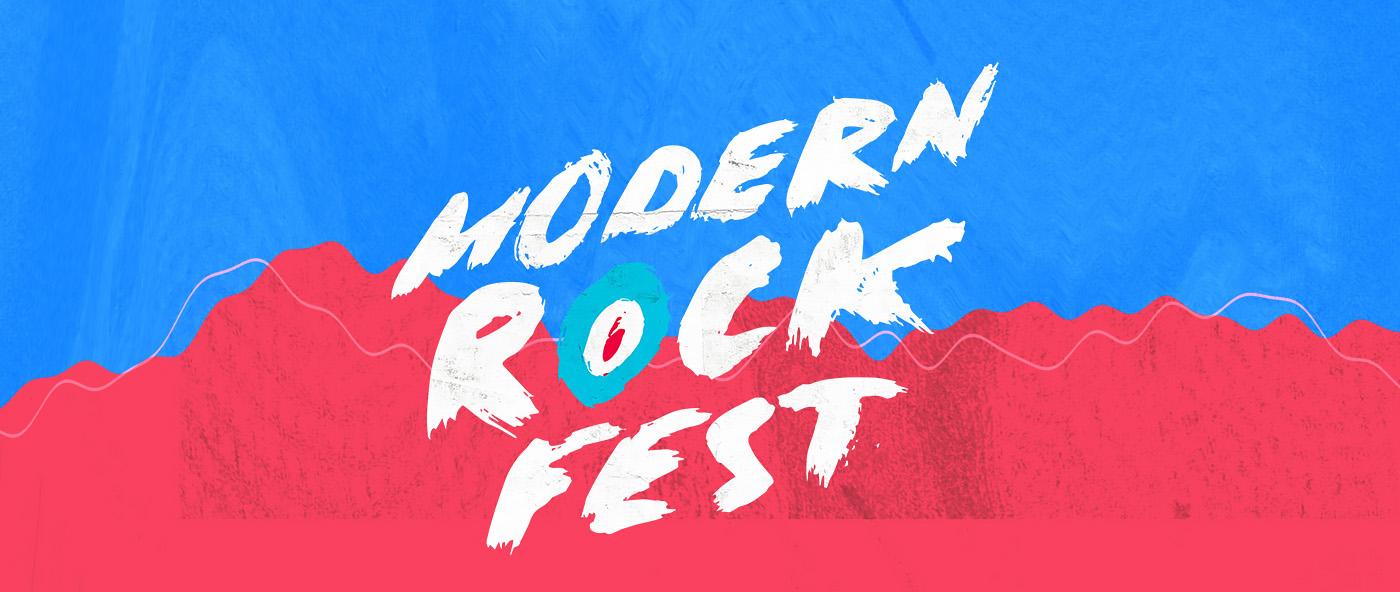 music festival logo identity rock branding  gig poster