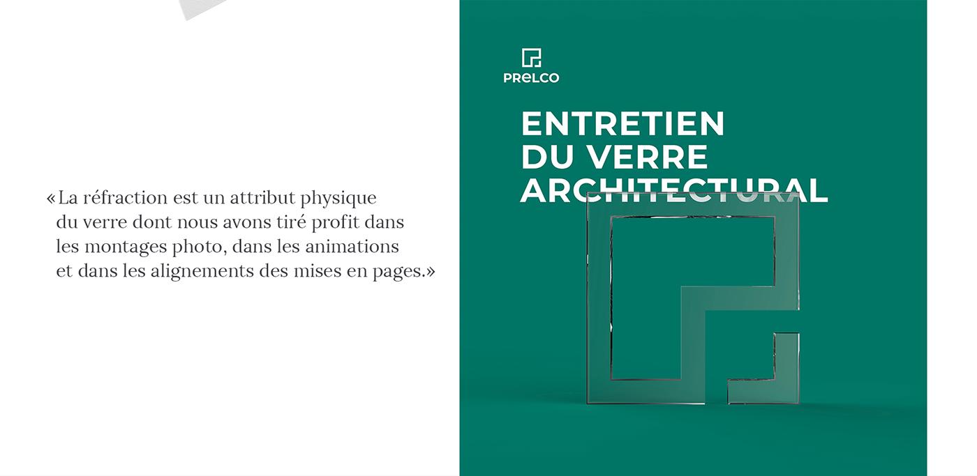 image de marque logo branding  brochure Packaging monogram glass verre identification visuelle