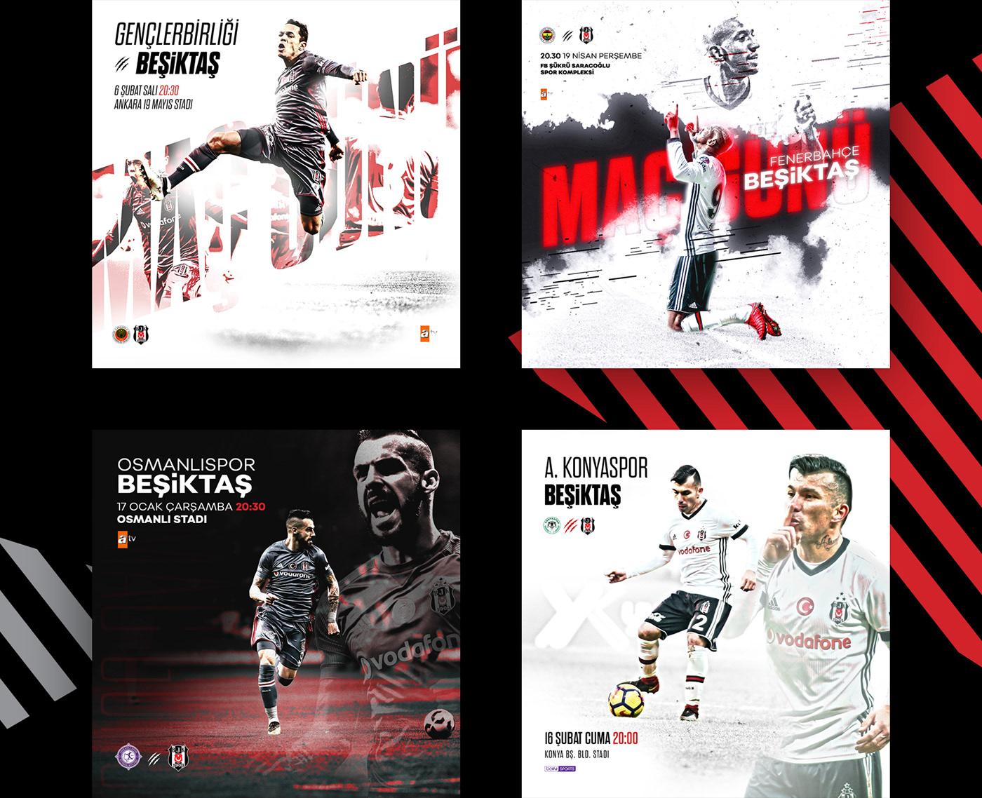 Beşiktaş,social media,design,football,club,soccer,team