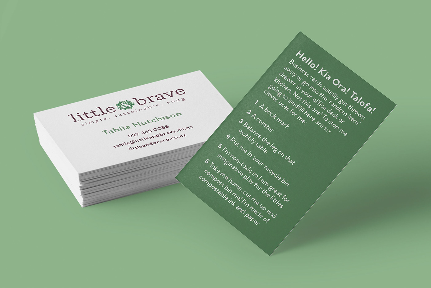 eco friendly compostable, recyclable business cards