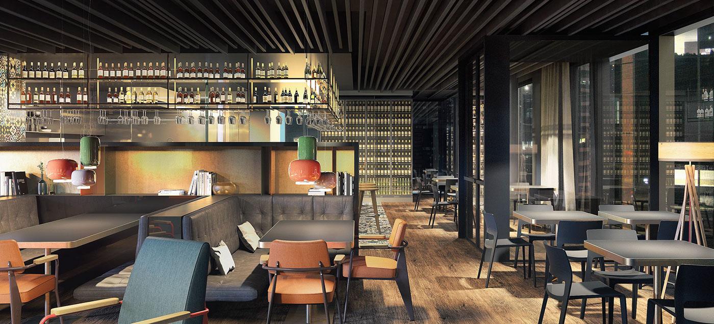 Ham milan on behance for 3d restaurant design software