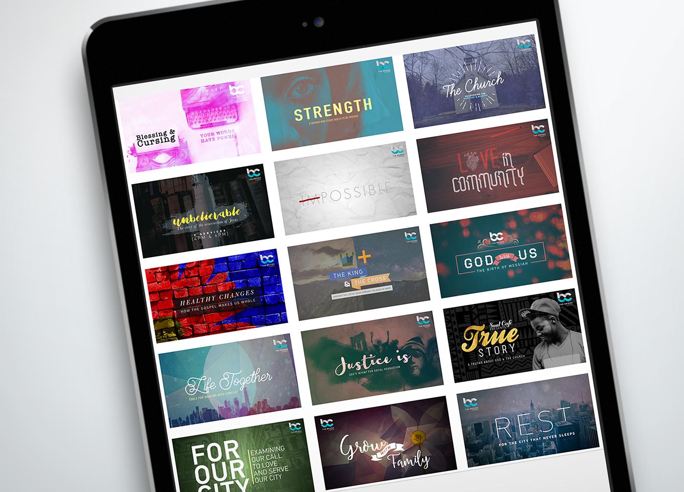 church branding  campaign series Christian