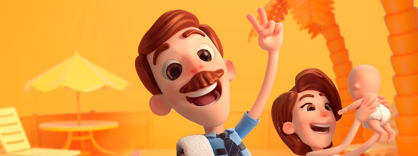 sesc Pé Grande animation  Character