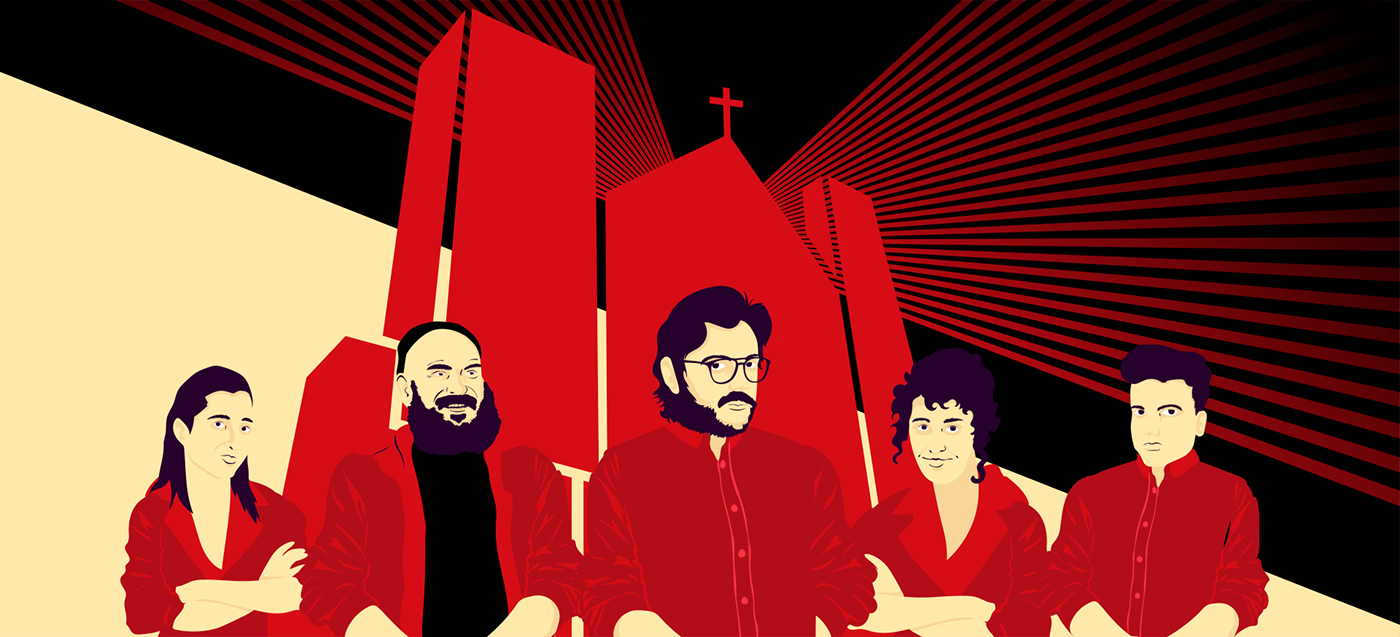 animation  Money Heist motion graphics  poster Russia Soviet spain