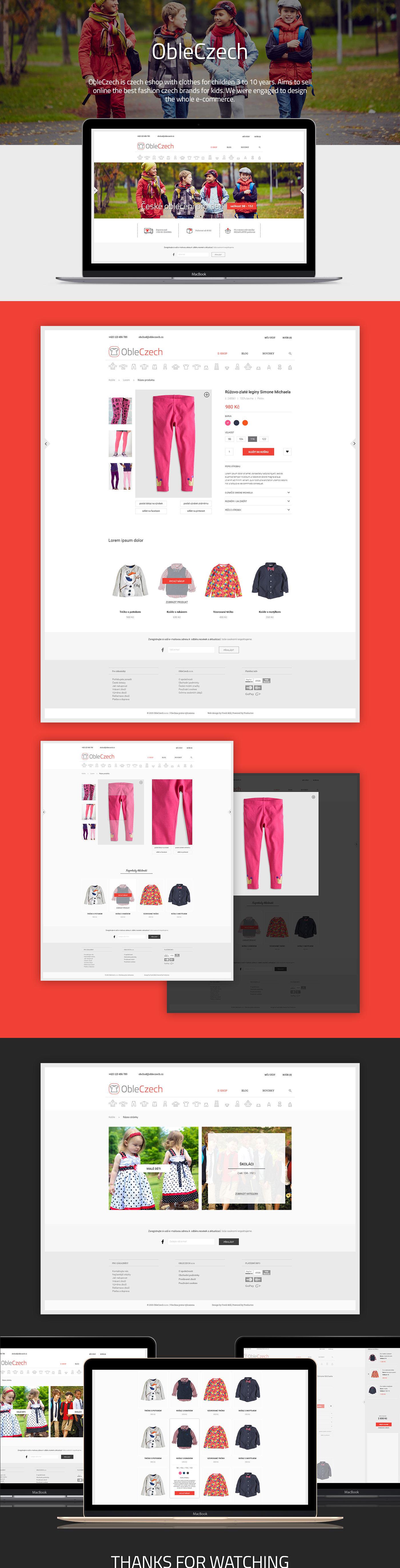 obleczech Ecommerce shop kids Web store UI ux design