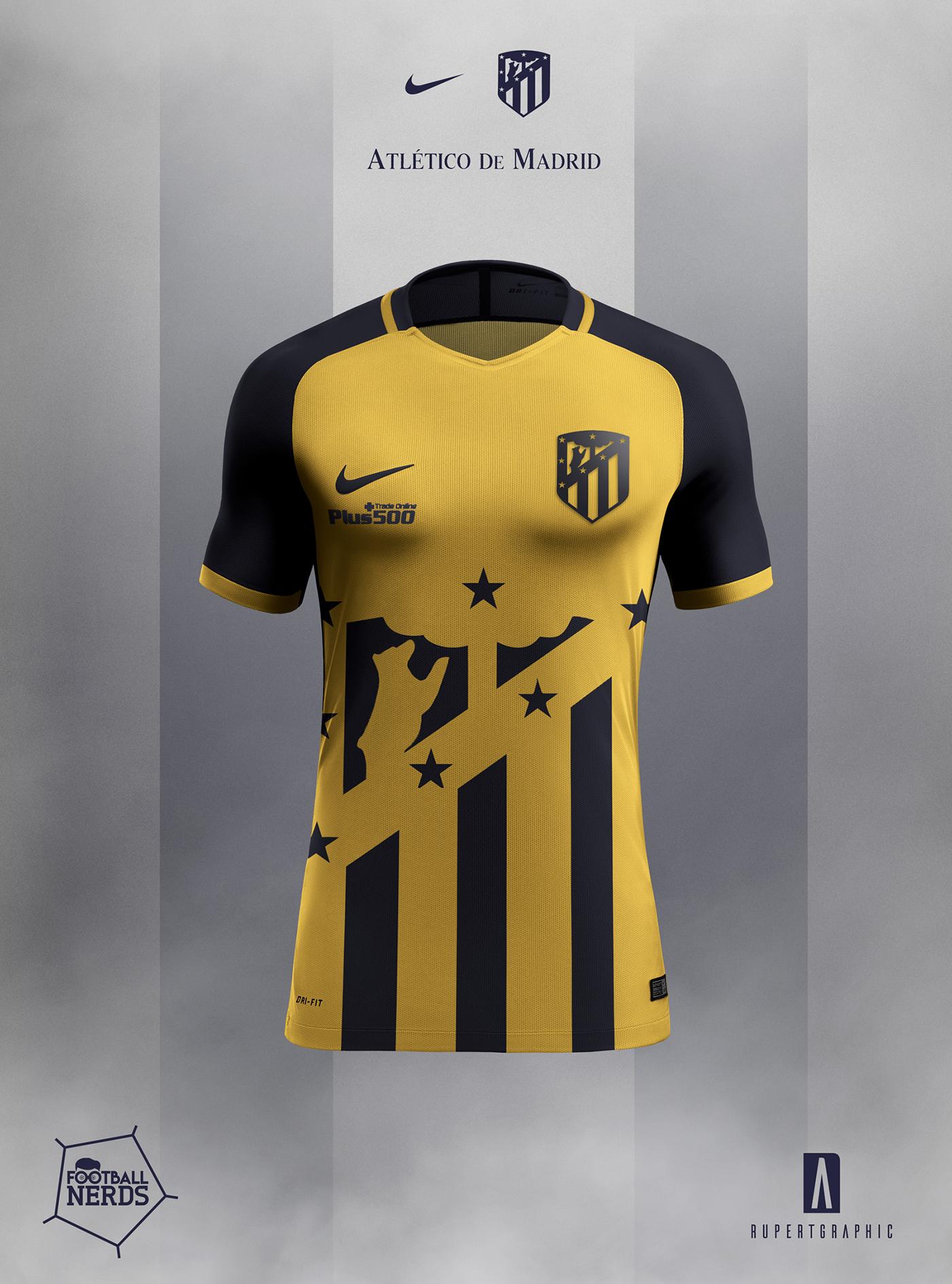 54d027856 Atletico de Madrid 2017 18 Concept - Nike on Behance