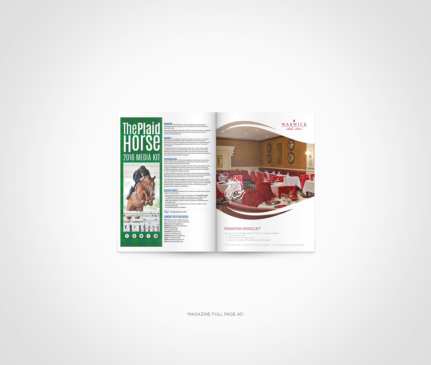 Warwick Doha Hotel adverising Saeed elgarf arabic hotel branding