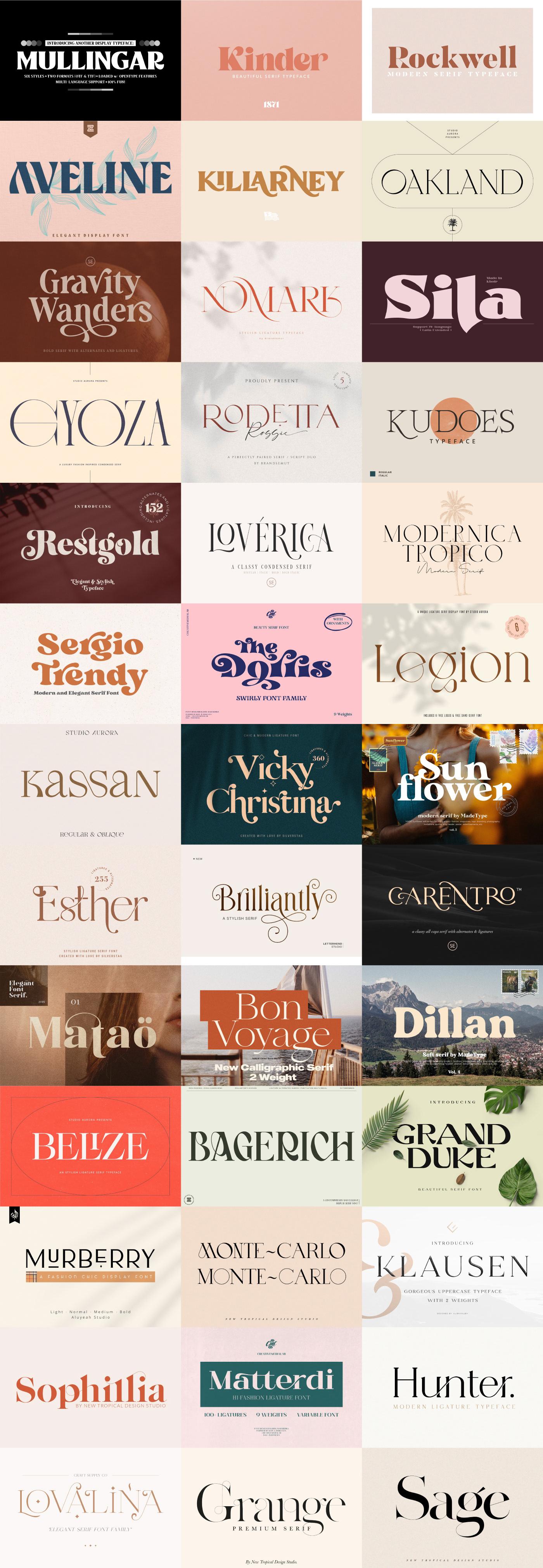 free Free font logo Logo Design luxury modern serif trendy Typeface typography