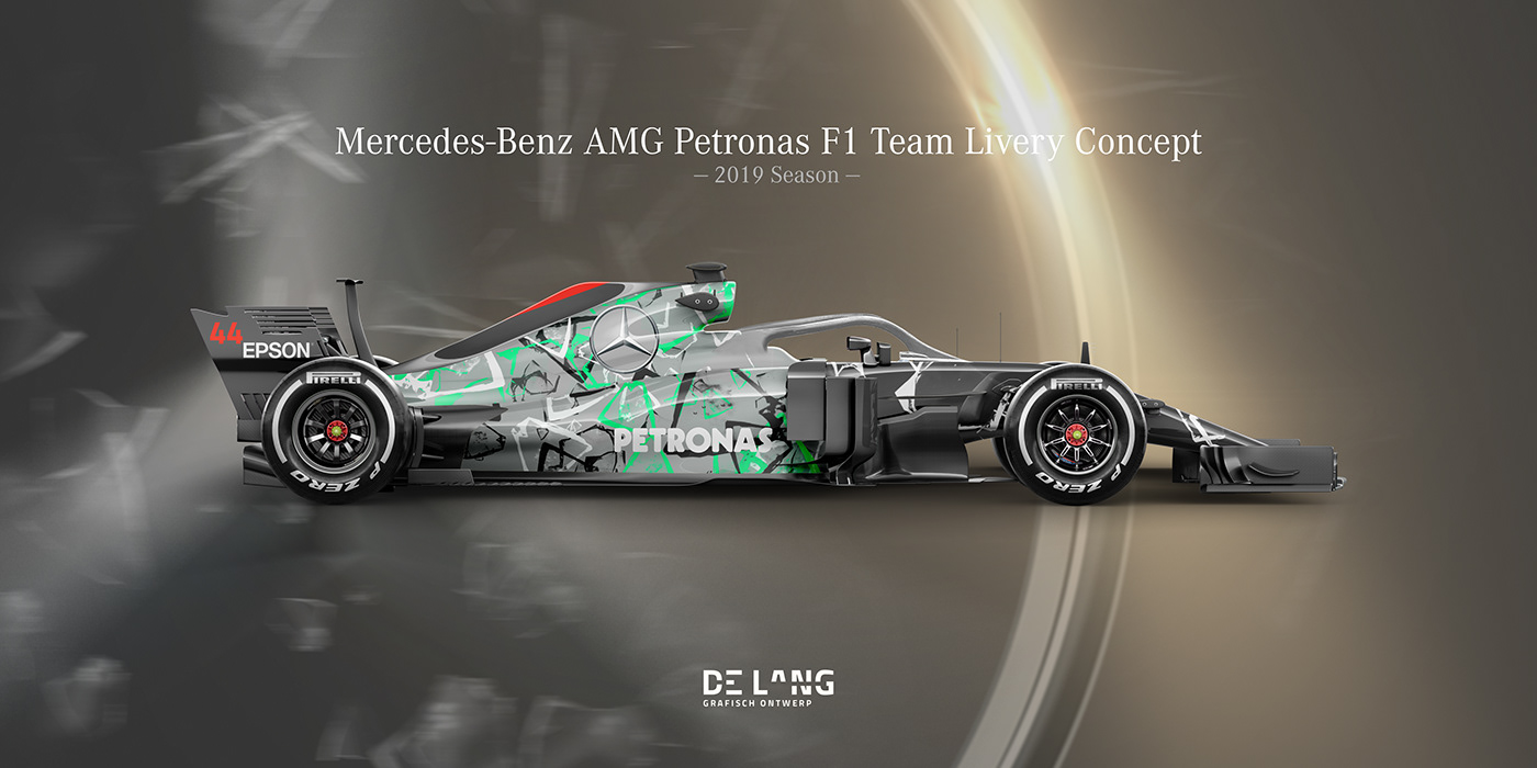 F1 2019 Mercedes Benz Livery Concept On Behance