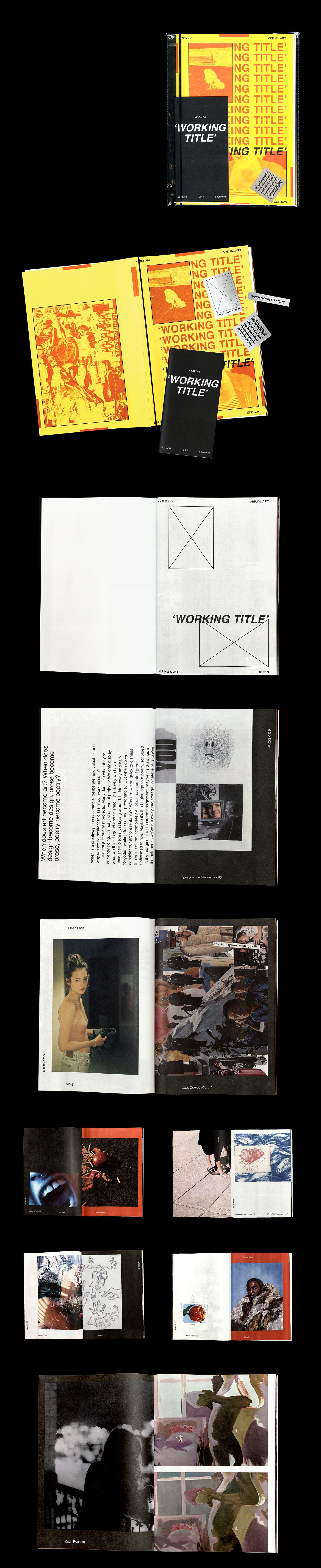 Kiosk Working Title KU Design editorial magazine university of kansas art Poetry  design