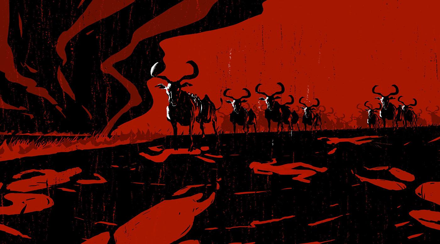 amazonia animation  Brazil craft indio motion rainforest são paulo wieden+kennedy woodcut
