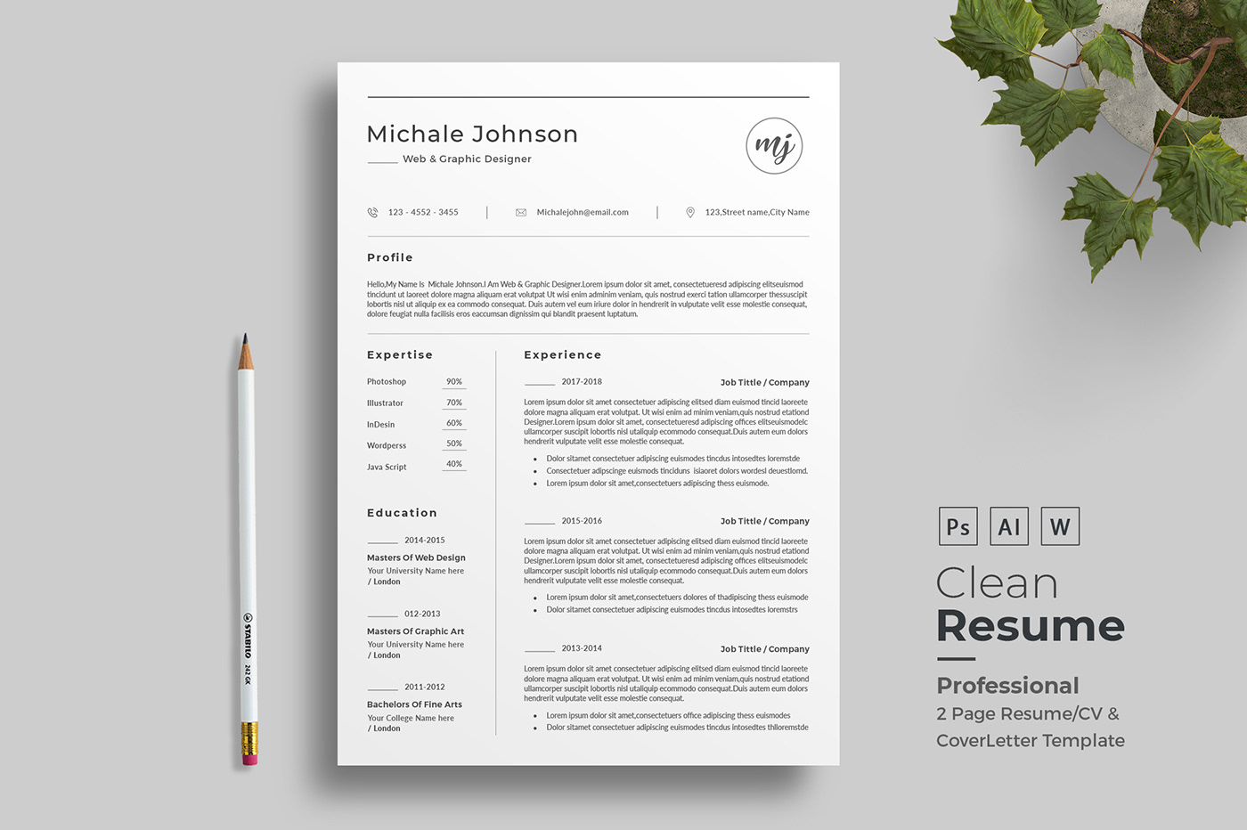 professional resume templates in word on behance