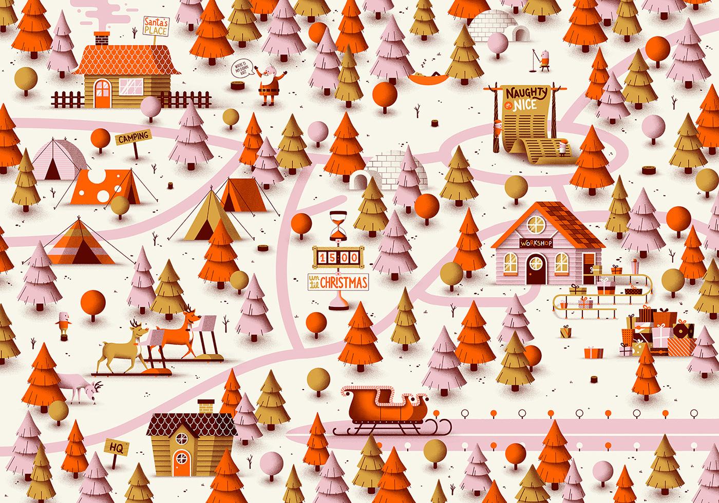 高質感的19個聖誕節插圖欣賞