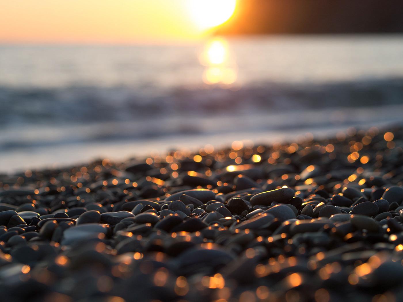 stones bokeh see and sun Sun sunshine