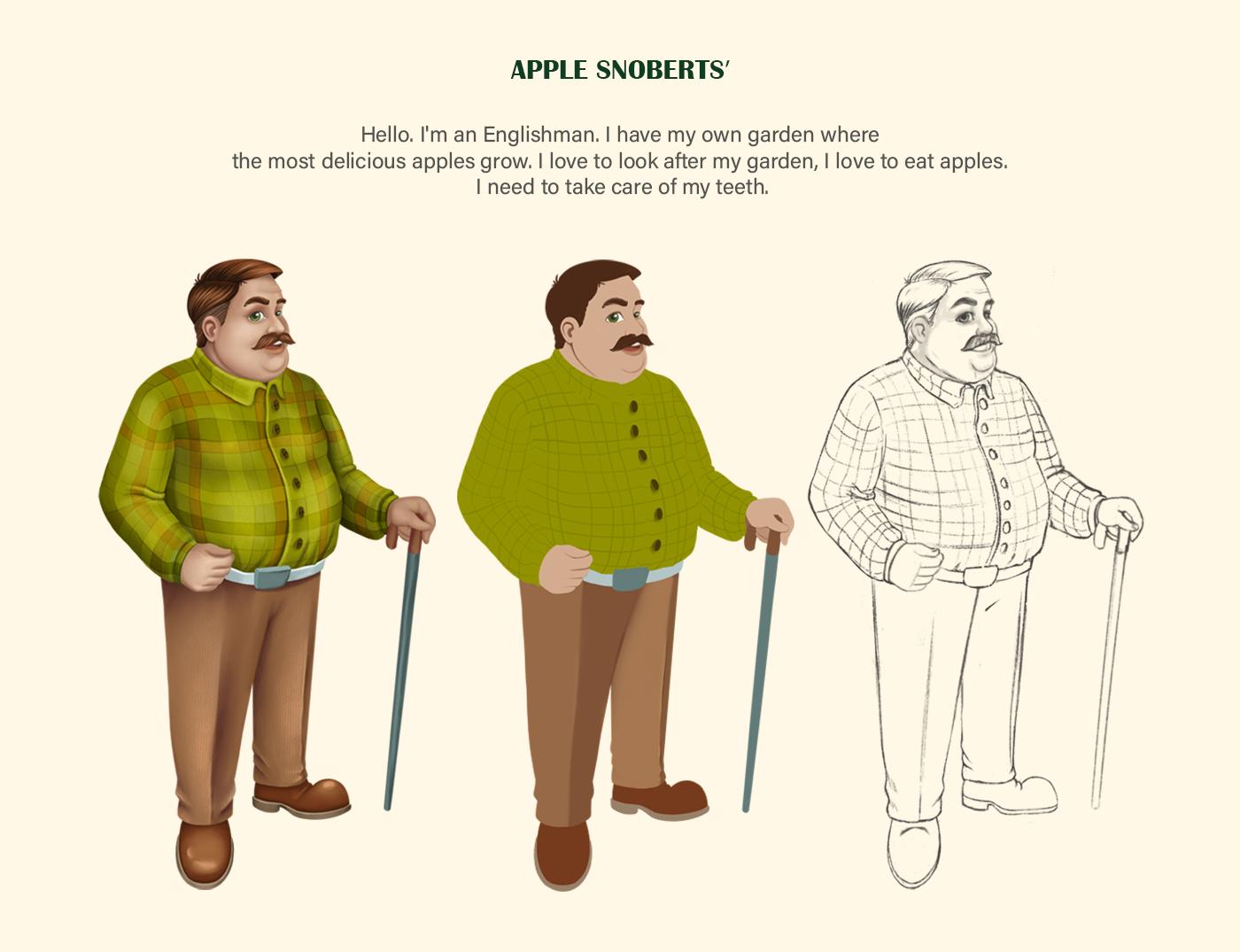 cartoon style Character design  Digital Art  ILLUSTRATION  Mascot MEN'S CHARACTER package design  toothpaste VOLUME STYLE