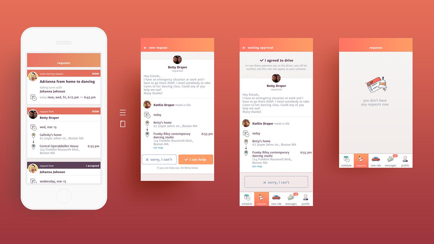 Carpooling App Kibzy On Behance