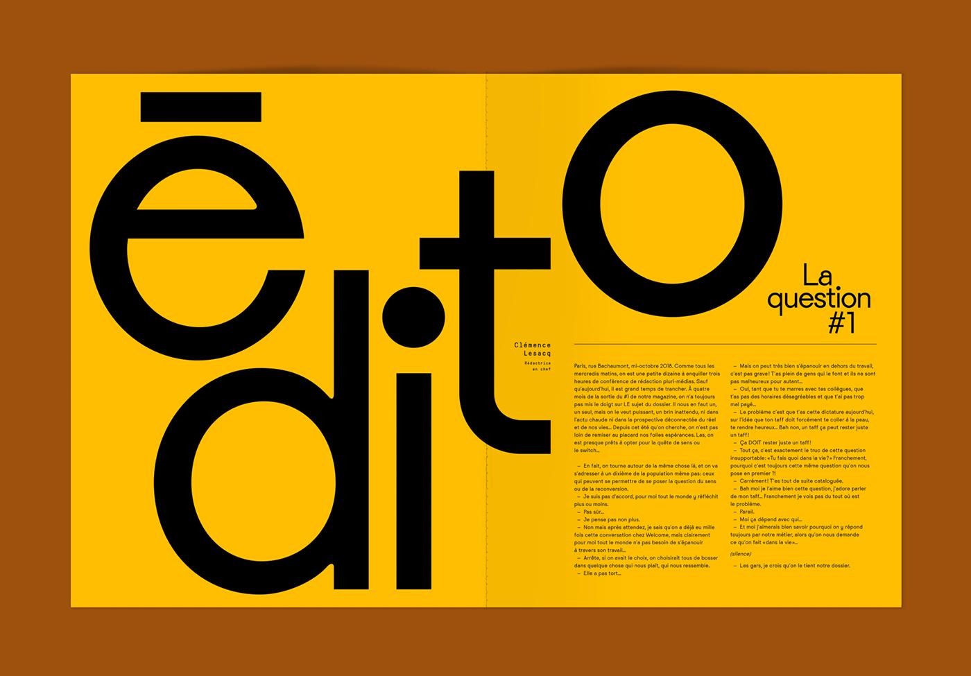 welcometothejungle type font Violaine&jeremy yellow custom type editorial design  Paul Rousteau Aysha Tengiz colour