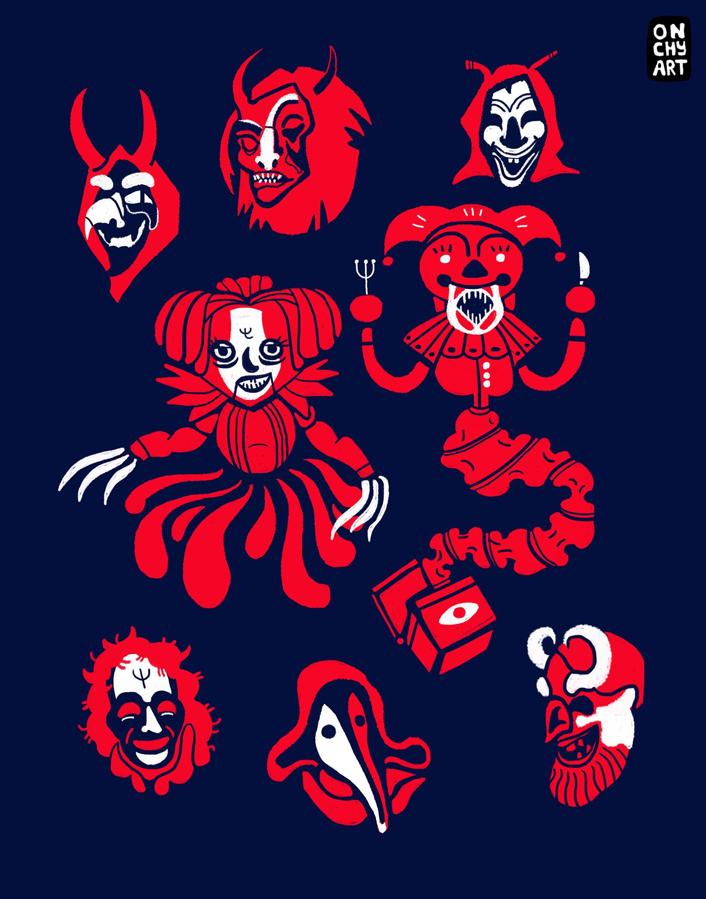 Digital Art  horror ILLUSTRATION  Krampus