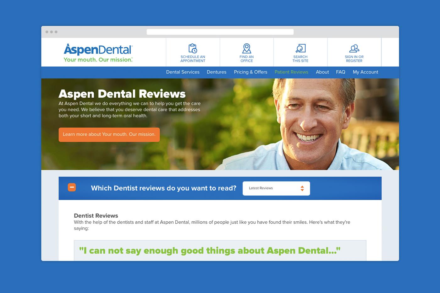 Aspen Dental - Web/Mobile Design on Behance