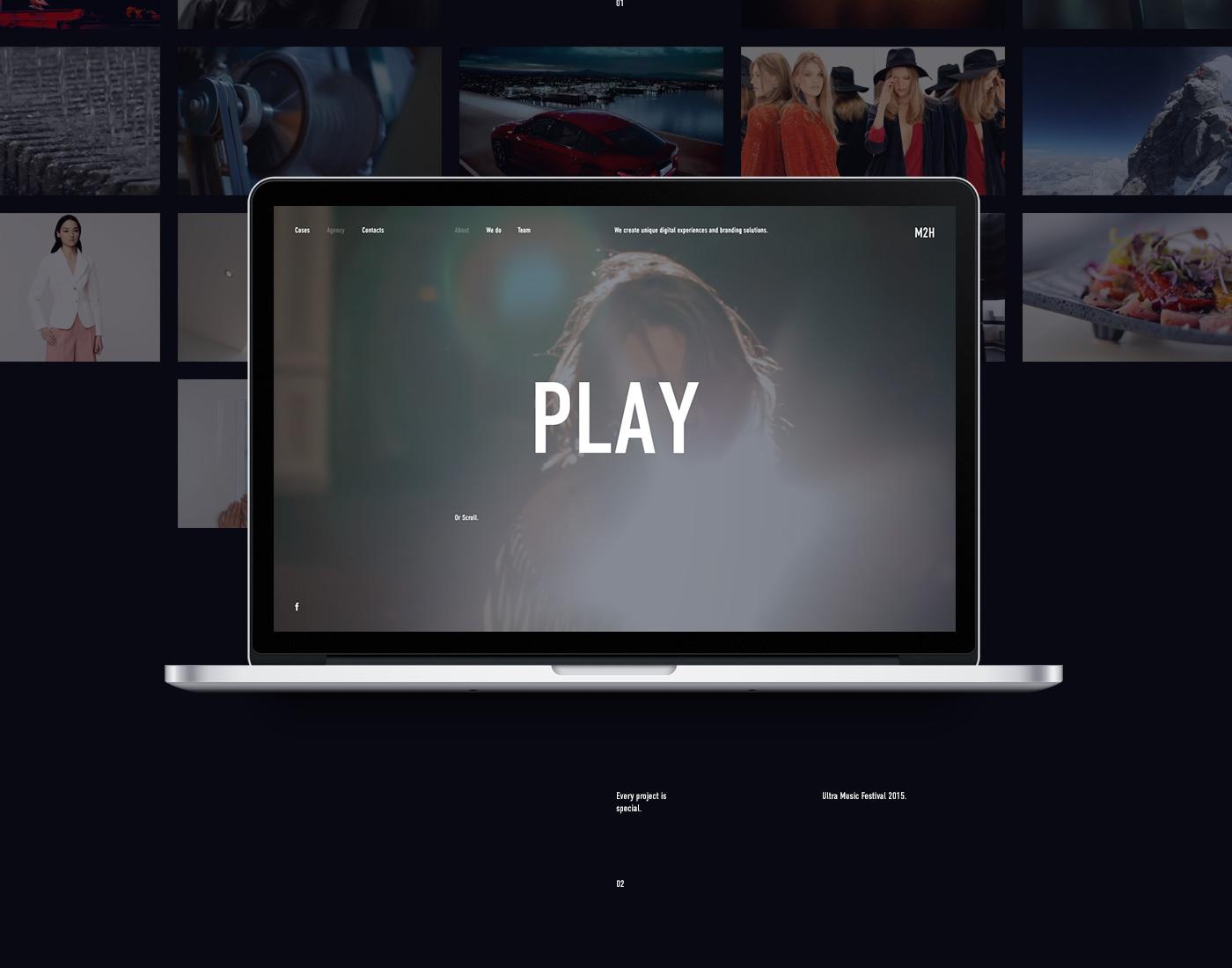 m2h m2hagency Website Web promo simple clean portfolio