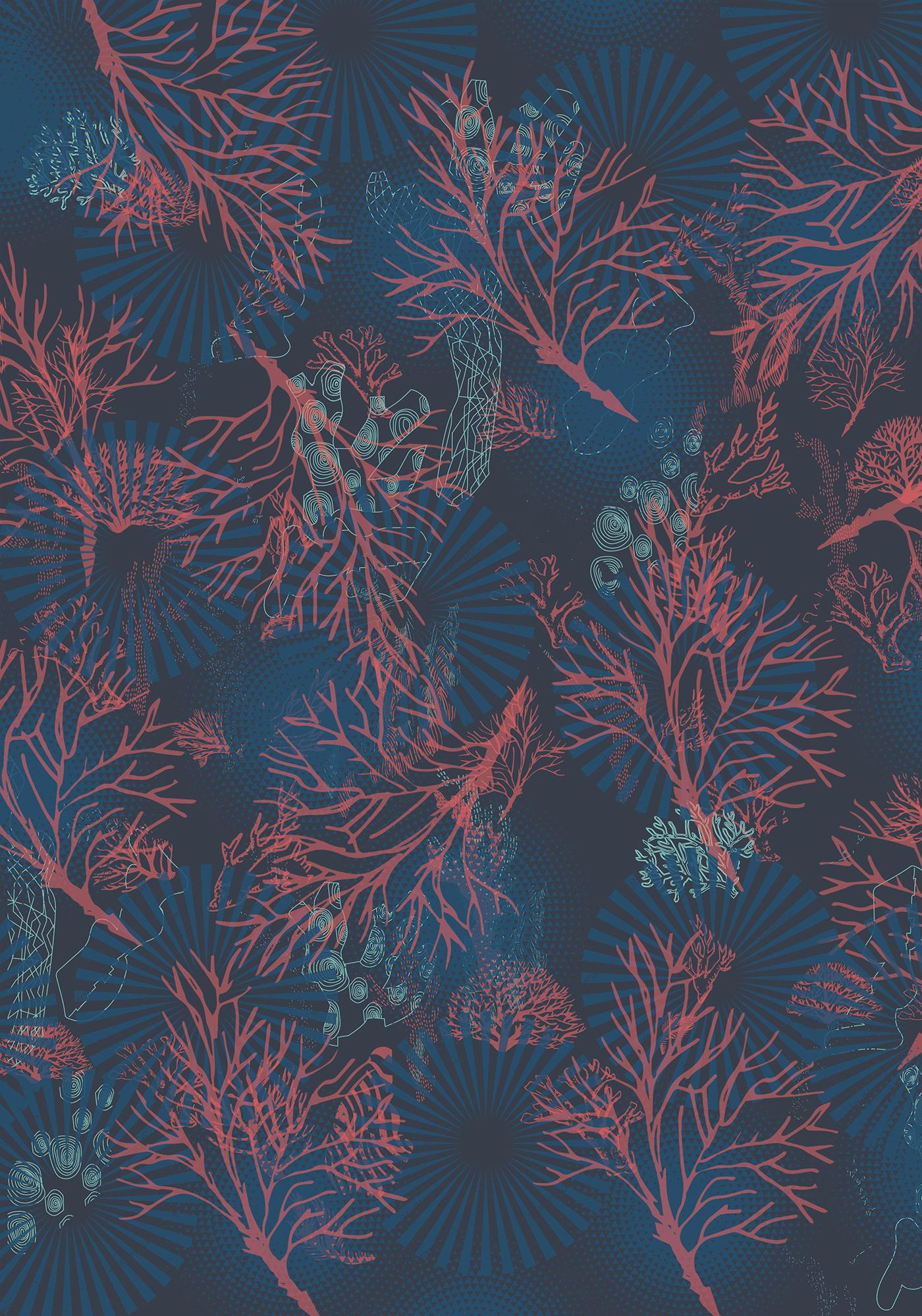 corals prints Fashion  hawaiian prints Menswear ss20 prints summer prints swimwear Tropical Prints