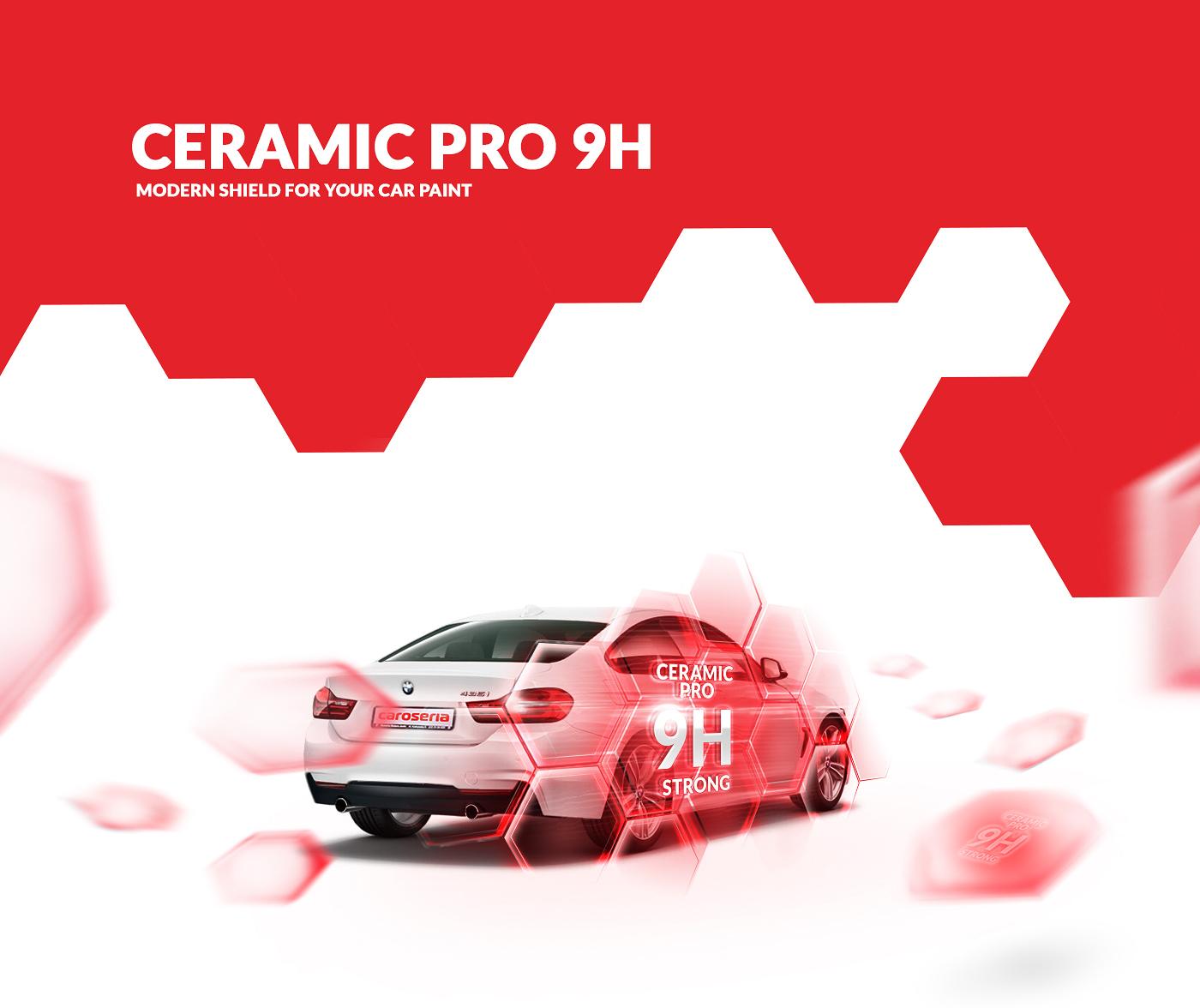 car detailing cleaning caroseria Website modern red Responsive