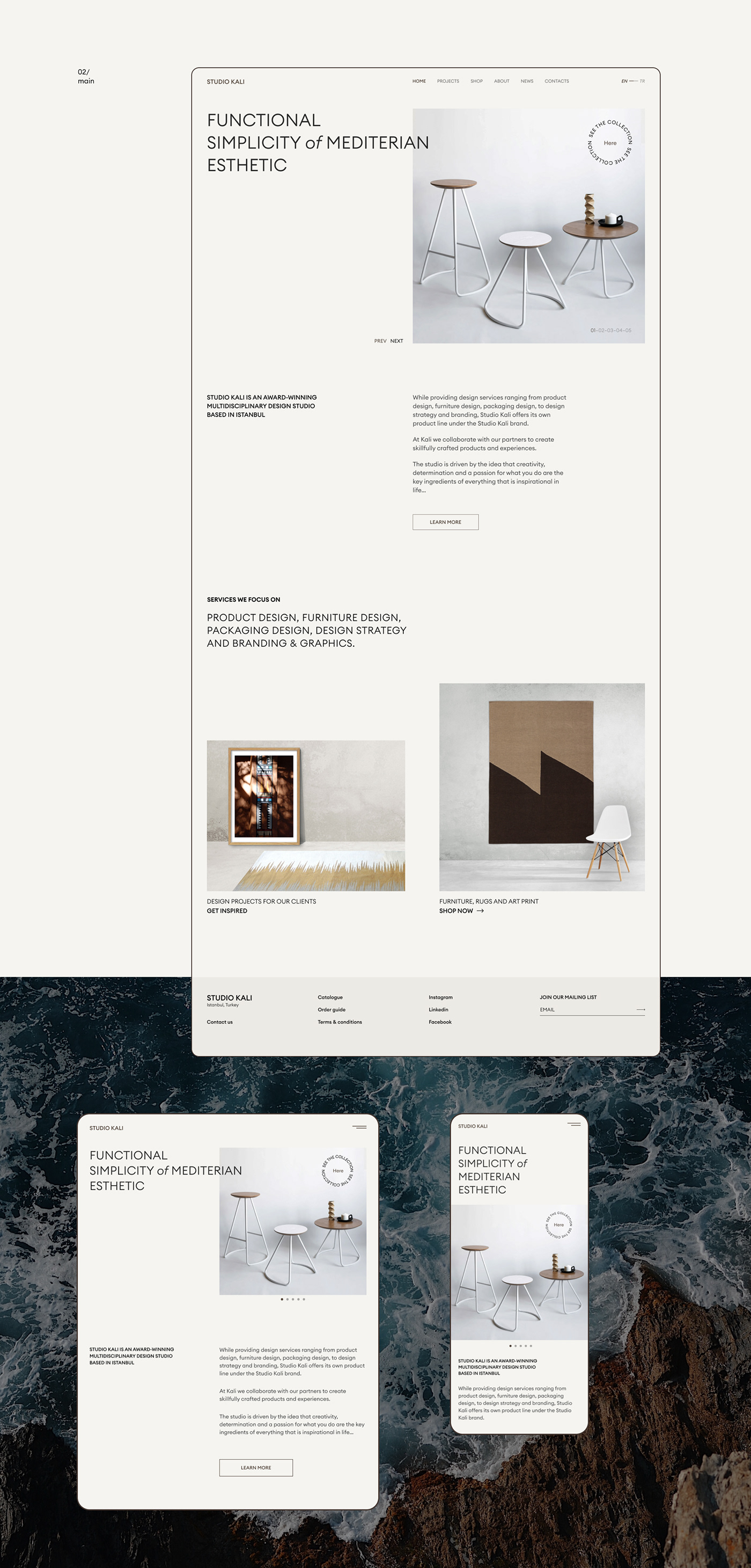 furniture Minimalism redesign store ux/ui Website Web Design