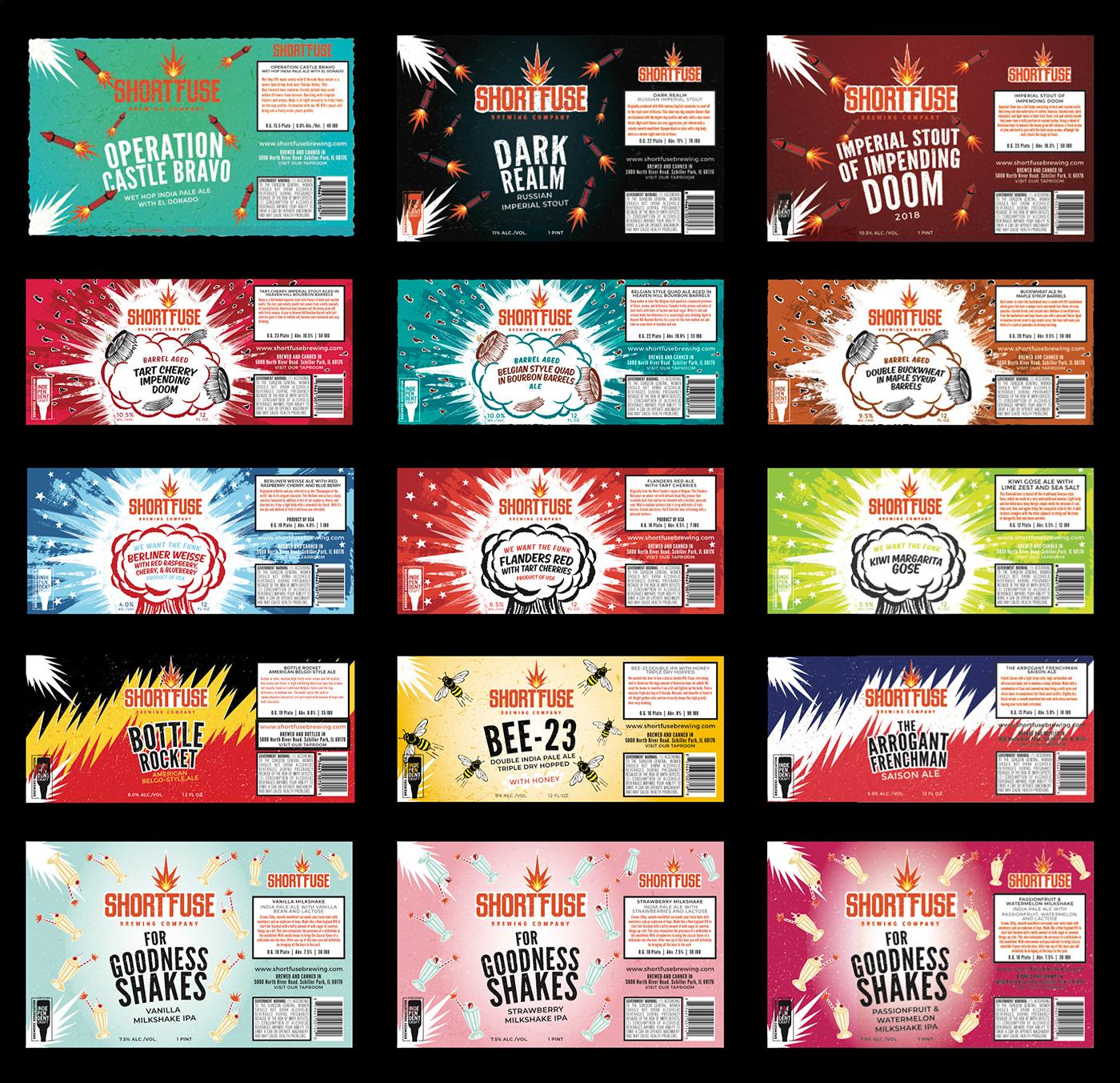#shortfuse #shortfusebrewing #chicago #fireworks #explosion #explosive #vintage #IPA #IPAbomb #hopbomb #craftbeer #beerlabel #labeldesign #packaging #packagingdesign #illustration
