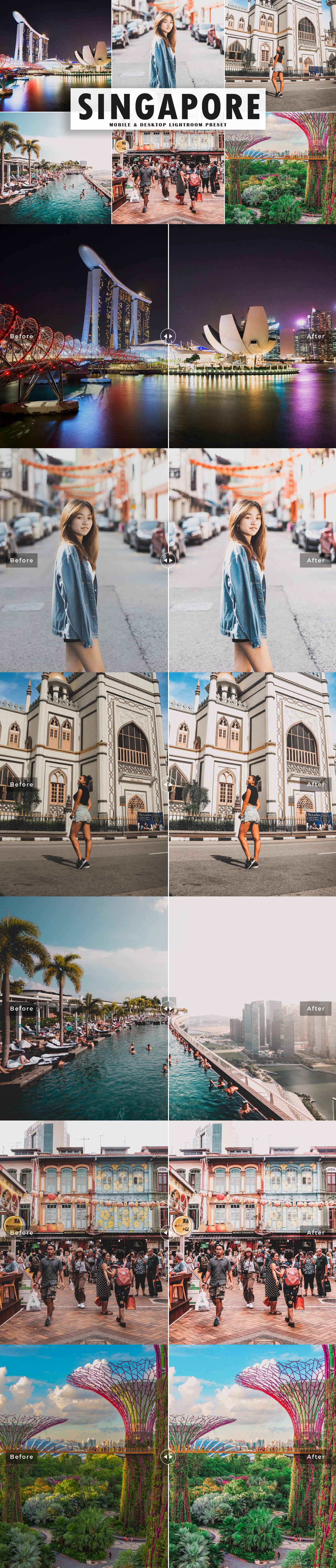 Free Singapore Lightroom Preset will produces bright colors, moody, aesthetic and deep warm tones.
