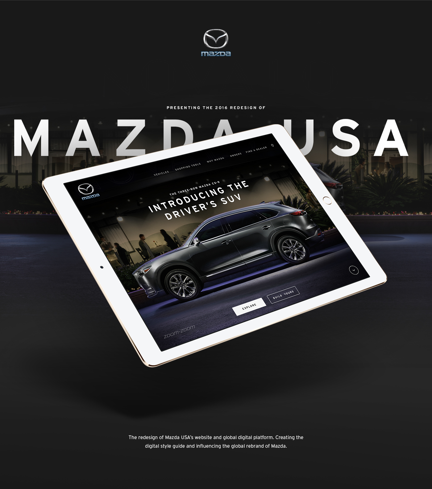 UI Design for the new Mazda website
