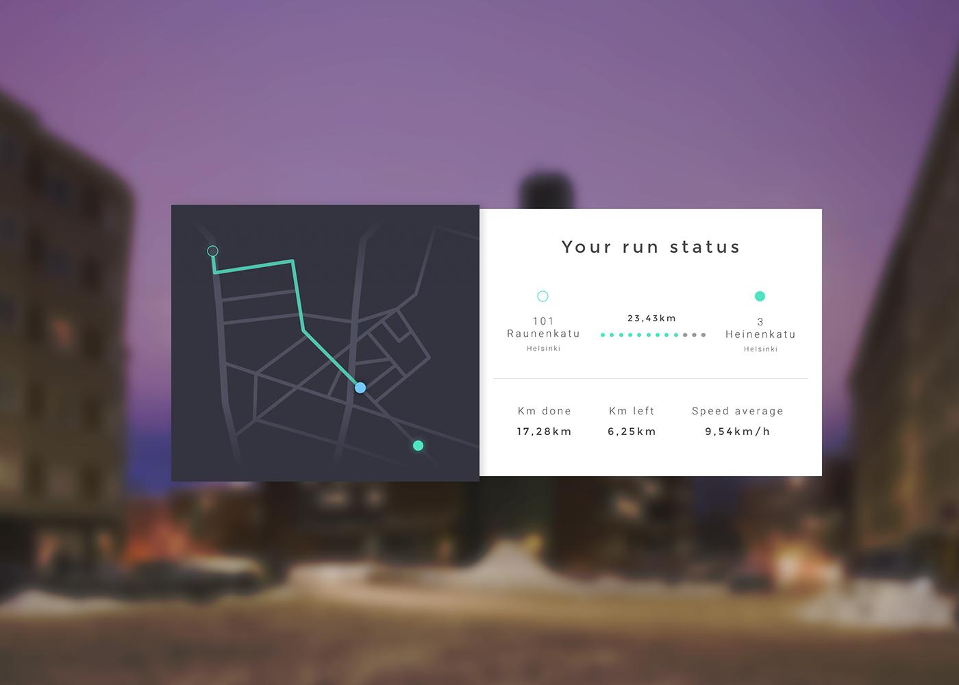 UI ux design tracker app Web DailyUI