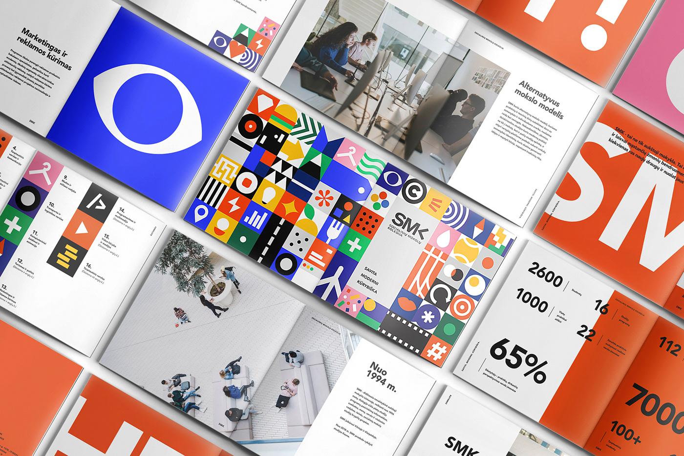 identity brand University interaction digital bold colour Education school Web Design