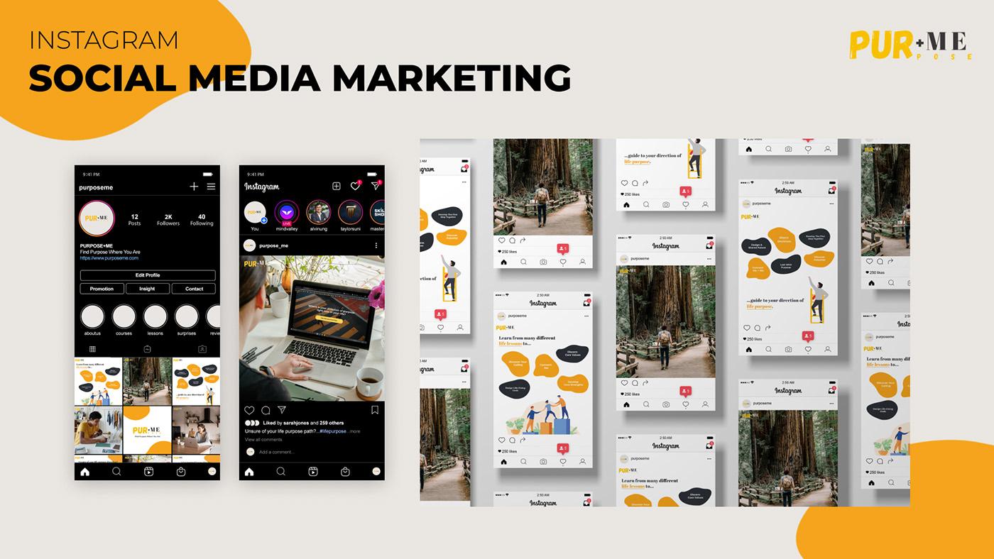 design Interaction design  Life Purpose onlinelearning purpose+me Web Design