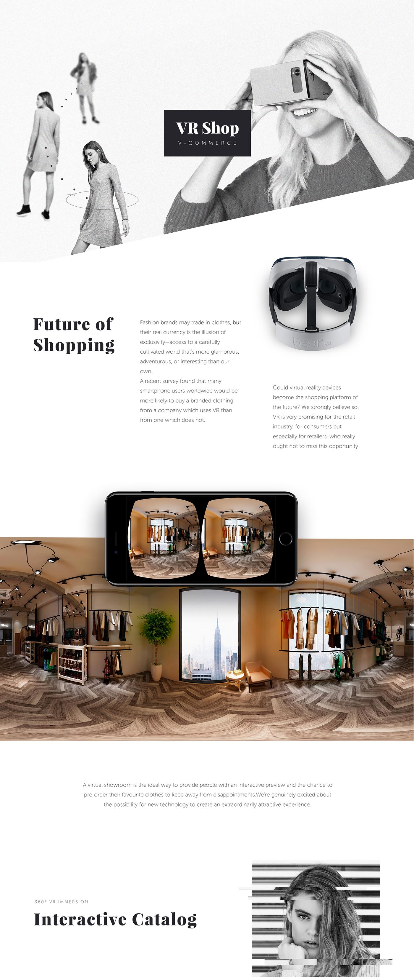VR e-Commerce solution on Behance